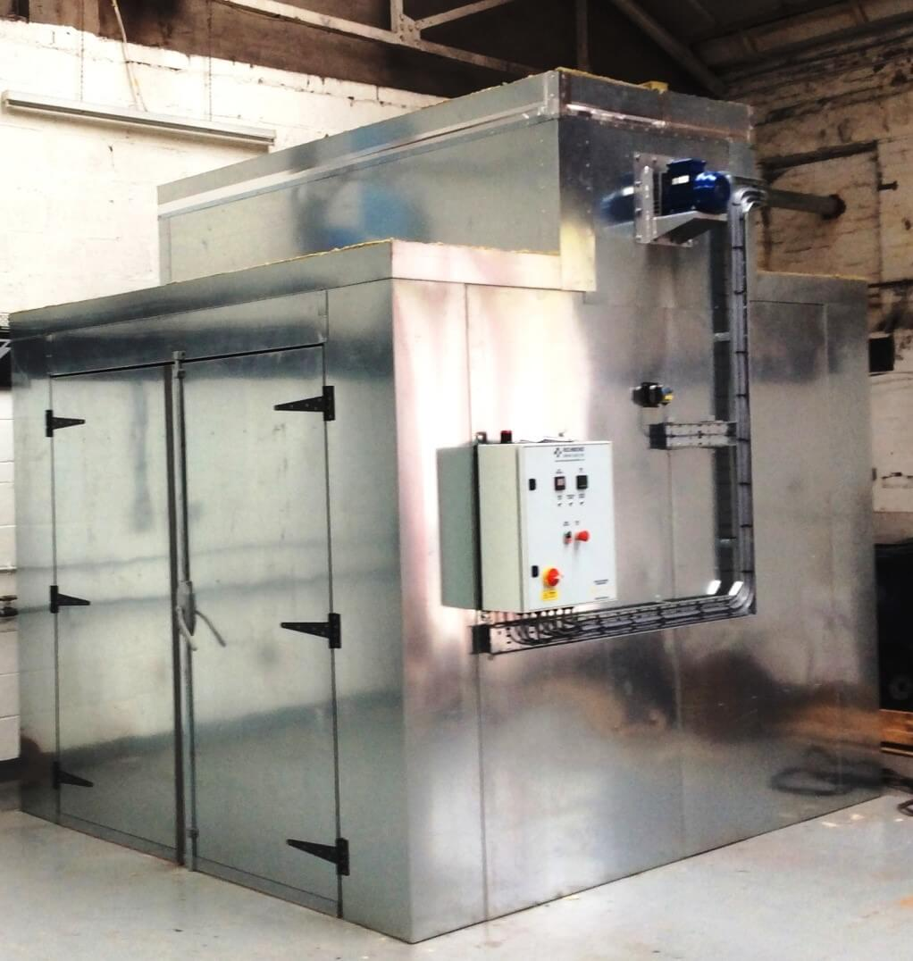 Powder coating oven richmond spray booths ltd for Paint curing oven