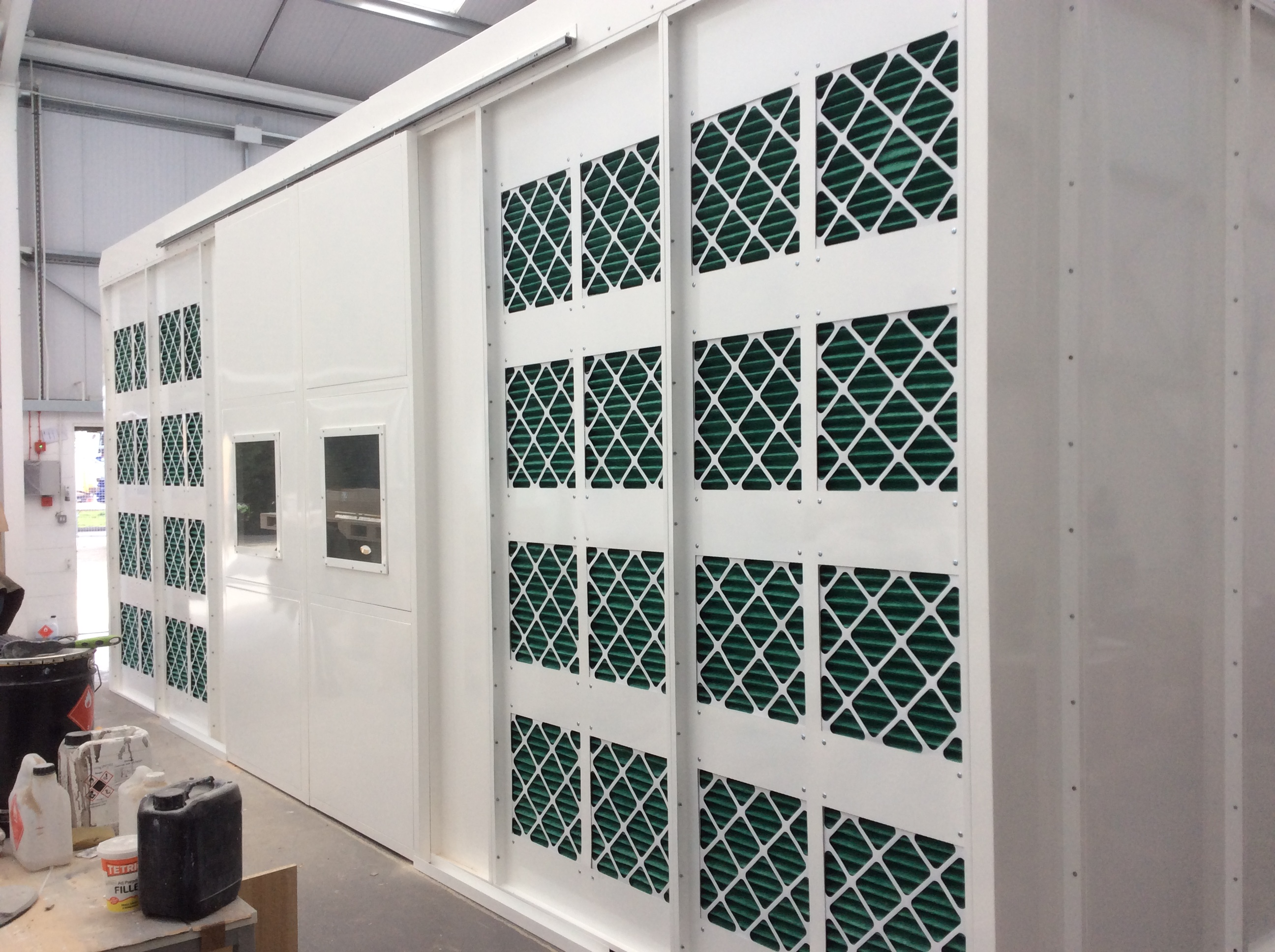 A Bespoke White Dry Filter Spray Booth