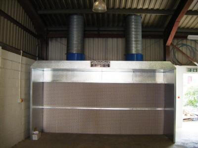 4.0m wide open fronted dry filter
